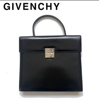 ジバンシィ(GIVENCHY)のGIVENCY ジバンシー レア品 ハンドバッグ レザー ブリーフケース 黒(ハンドバッグ)