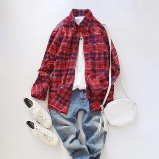 ジムフレックス(GYMPHLEX)のGymphlex▼ジムフレックス▼赤▼コットンシャツ▼サイズM(シャツ)