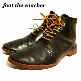 フットザコーチャー(foot the coacher)のfoot the coacher フットザコーチャー ショートブーツ ブラック(ブーツ)