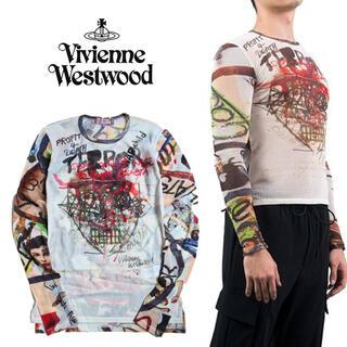 ヴィヴィアンウエストウッド(Vivienne Westwood)の 《ヴィヴィアンウエストウッド》新品 イタリア製 Terror Tシャツ L(Tシャツ/カットソー(七分/長袖))