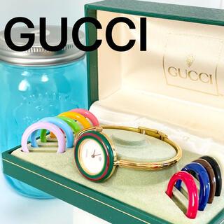Gucci - 210 GUCCI グッチ時計 レディース腕時計 チェンジベゼル 新品電池