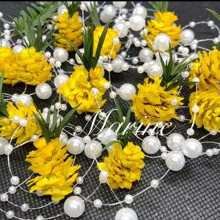 春夏花材 ミニツガ パイナップル 12個 ハーバリウム花材(ドライフラワー)