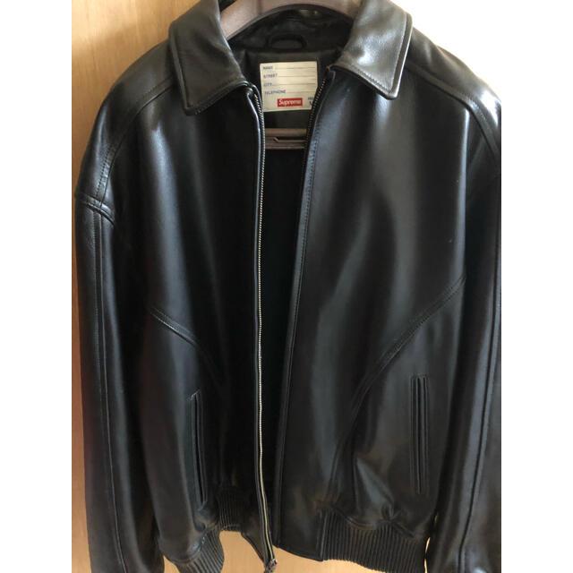 Supreme(シュプリーム)のStudded Arc Logo Leather Jacket レシート付き メンズのジャケット/アウター(レザージャケット)の商品写真