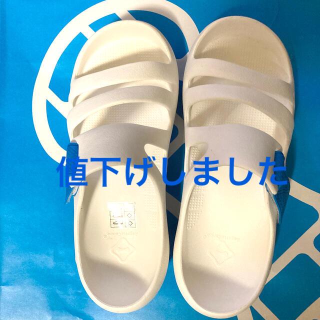 Regetta Canoe(リゲッタカヌー)のリゲッタカヌー 白/ブルー M3/W5(22.5㎝) レディースの靴/シューズ(サンダル)の商品写真
