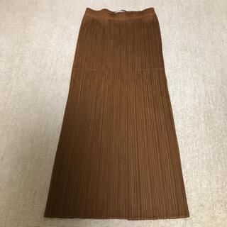 プリーツプリーズイッセイミヤケ(PLEATS PLEASE ISSEY MIYAKE)の茶色スカート(その他)