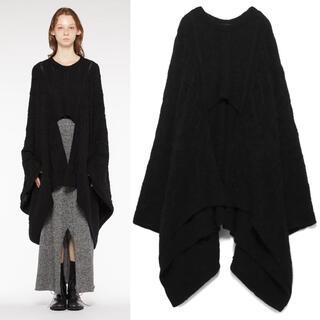 ヨウジヤマモト(Yohji Yamamoto)のヨウジヤマモト ワイズ y's 着物袖 デザインニットケープ(ニット/セーター)
