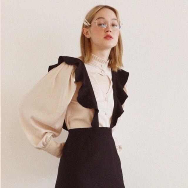 Honey mi Honey(ハニーミーハニー)のsatin heart blouse レディースのトップス(シャツ/ブラウス(長袖/七分))の商品写真