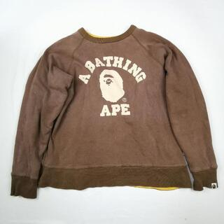 A BATHING APE - エイプ Ape リバーシブル 大きめ スウェット 裏原 ストリート