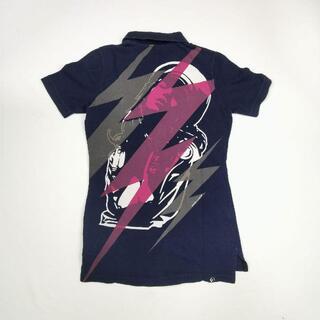 ヒステリックグラマー(HYSTERIC GLAMOUR)のヒステリックグラマー ガール ネイビー ポロシャツ .(ポロシャツ)