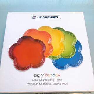 LE CREUSET - ルクルーゼ  フラワー プレート LC 23cm 5枚 レインボー フルール