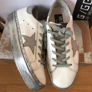 GOLDEN GOOSE - GOLDEN GOOSE HI STAR スニーカー 37 阪急百貨店購入