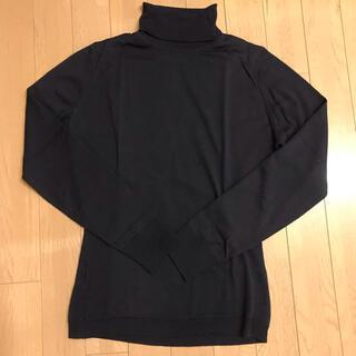 ジョンスメドレー(JOHN SMEDLEY)のジョンスメドレー タートルネックセーターS 紺(ニット/セーター)