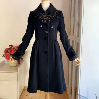 ロイスクレヨン(Lois CRAYON)の未使用に近い極美品 ロイスクレヨン 2014年受注コート 黒(ロングコート)