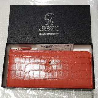 SNOOPY - SNOOPY Leather Collection クロコシリーズ Lファスナー