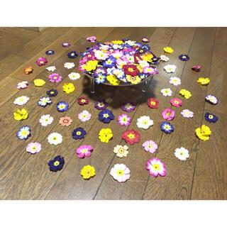 ③ 銀の紫陽花が作ったふんわり可愛い春色プリムラ山盛り50冠です‼️(ドライフラワー)