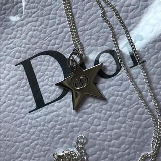 クリスチャンディオール(Christian Dior)のdior クリスチャンディオール ロゴネックレス シルバーカラー(ネックレス)