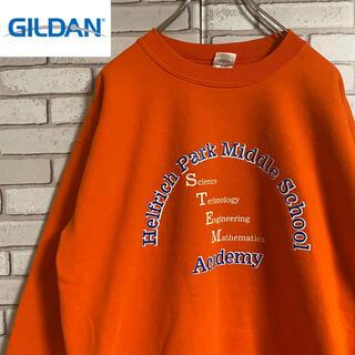 ギルタン(GILDAN)の90s 古着 ギルダン スウェット プリント トレーナー ゆるだぼ(スウェット)