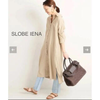 IENA SLOBE - 美品 スローブイエナ シャツワンピース ワンピース リネン