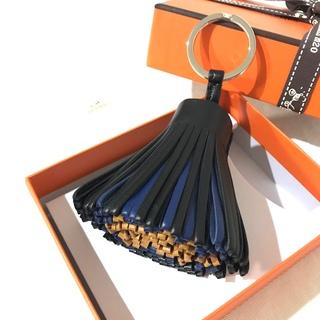 エルメス(Hermes)の新品 HERMES カルメン 3色 トリコロール 黒(キーホルダー)