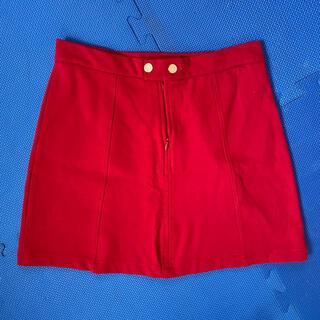 ベルシュカ(Bershka)のミニスカート 赤 レッド(ミニスカート)