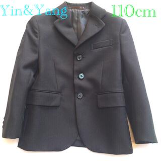 イン(YIN)のフォーマルウェア スーツ キッズ110cm発表会ストライプ ブラック3点セット(ドレス/フォーマル)