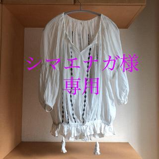 ハグオーワー(Hug O War)のcloth&cross/ スモッキング刺繍 ギャザーブラウス(シャツ/ブラウス(長袖/七分))