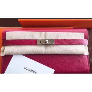 Hermes - 【正規品】新品 未使用 エルメス HERMES ケリーウォレット 長財布 ルビー