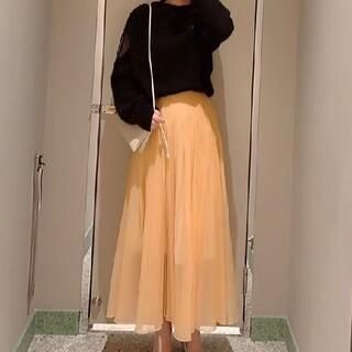 スナイデル(snidel)のシアータックボリュームスカート 新品(ロングスカート)
