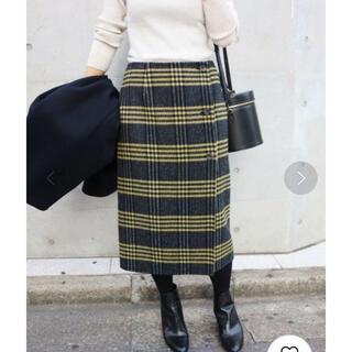 IENA - Wフェイスリバーシブル ミッドカーフスカート