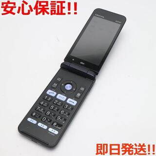 キョウセラ(京セラ)の良品中古 GRATINA KYF37 ブラック 本体 白ロム(携帯電話本体)