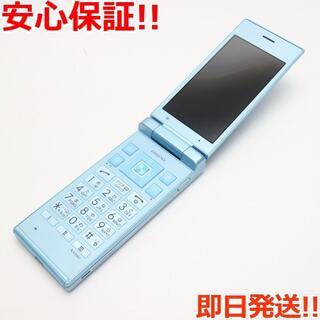 キョウセラ(京セラ)の美品 701KC DIGNO ケータイ2 ブルー (携帯電話本体)