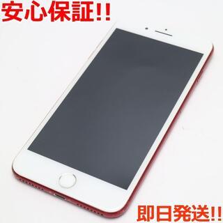 アイフォーン(iPhone)の美品 SIMフリー iPhone7 PLUS 128GB レッド (スマートフォン本体)