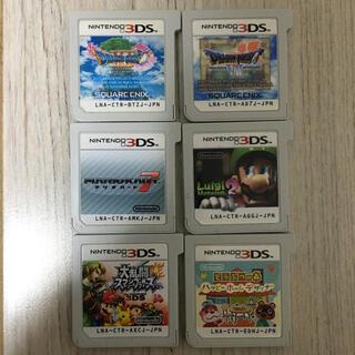 ニンテンドー3DS - 3DSソフト6本 ドラクエ7・11・スマブラ・どうぶつの森・マリオカート