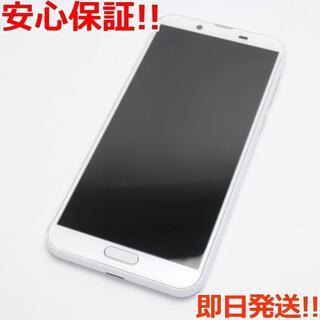 アクオス(AQUOS)の美品 SHV43 AQUOS sense2 シルキーホワイト (スマートフォン本体)