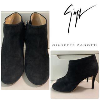 ジュゼッペザノッティ(GIUZEPPE ZANOTTI)のジュゼッペザノッティ ブラックスエード ブーツ(ブーツ)