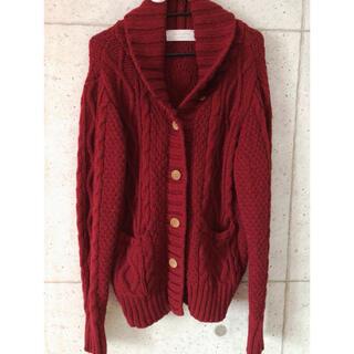 ショコラフィネローブ(chocol raffine robe)の【chocol raffine robe】ニットカウチン(ニット/セーター)