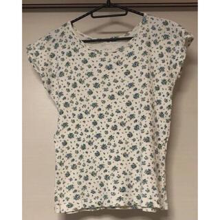 カットソー 花柄 半袖 Tシャツ レディース(Tシャツ(半袖/袖なし))