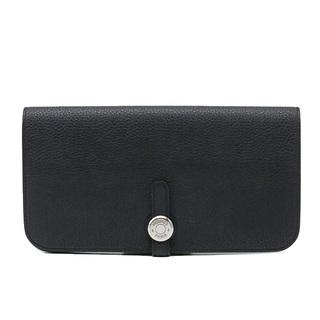 Hermes - エルメス  二つ折り財布  ドゴンロング  C刻印 ブラック