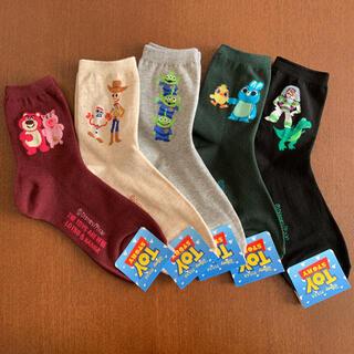 Disney - ディズニー ピクサー トイストーリー 靴下 5足 レディースソックス