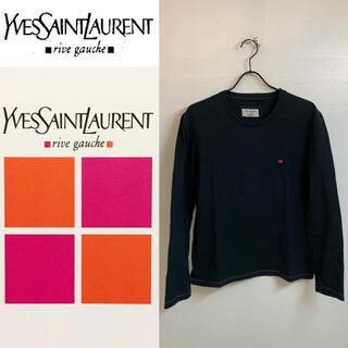 サンローラン(Saint Laurent)のYVES SAINT LAURENT トムフォード期 イタリア製 刺繍カットソー(Tシャツ/カットソー(七分/長袖))