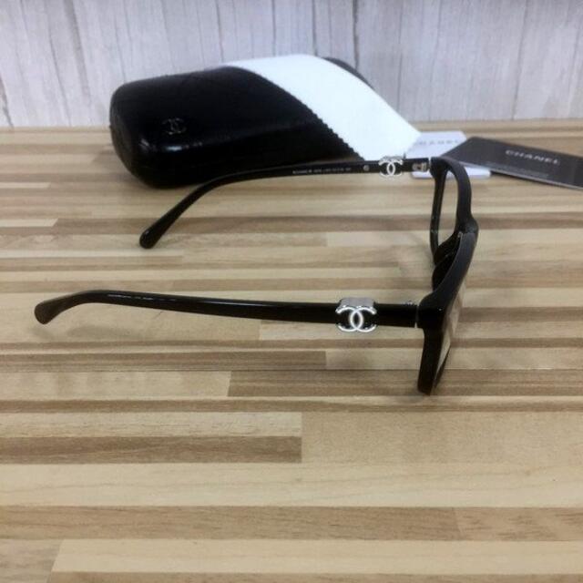 CHANEL(シャネル)のシャネル メガネ 黒フレーム ホワイトココマーク3234 レディースのファッション小物(サングラス/メガネ)の商品写真