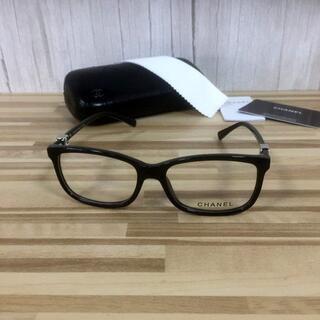 シャネル(CHANEL)のシャネル メガネ 黒フレーム ホワイトココマーク3234(サングラス/メガネ)