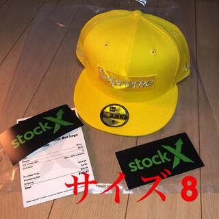 シュプリーム(Supreme)のsupreme $1M metallic BOX LOGO new era  8(キャップ)