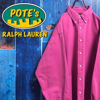 Ralph Lauren - 【ラルフローレン】USA製ワンポイント刺繍ビッグチノボタンダウンシャツ 90s