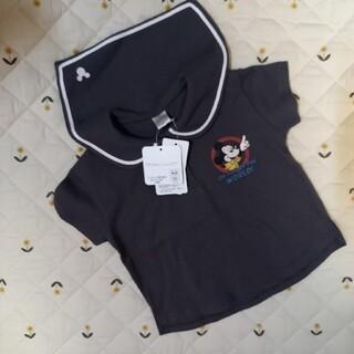 futafuta - 【新品未使用】フタフタ セーラー襟 赤丸ミッキー 半袖 Tシャツ