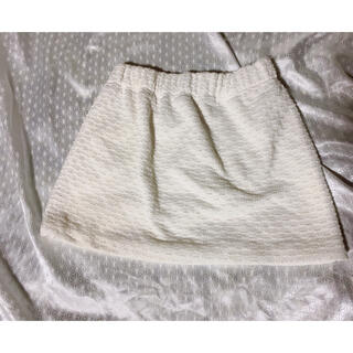 ワンスポ(one spo)のonespo ワンスポ ツイードミニスカート ホワイト(ミニスカート)