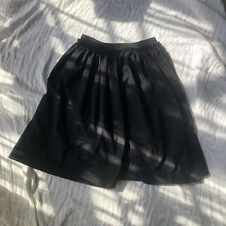 イーハイフンワールドギャラリー(E hyphen world gallery)のイーハイフンワールドギャラリー フレアスカート 黒 フリーサイズ(ミニスカート)