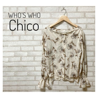 who's who Chico - WHO'S WHO Chico レディース 花柄カットソー FREE ベージュ