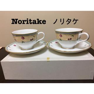 【未使用・廃盤品】Noritake ガトーポワレ カップ&ソーサー  2客セット