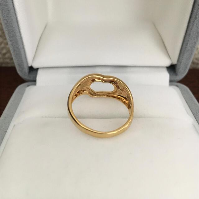 Tiffany & Co.(ティファニー)のティファニー オープンハート リング K18YG 2.8g レディースのアクセサリー(リング(指輪))の商品写真